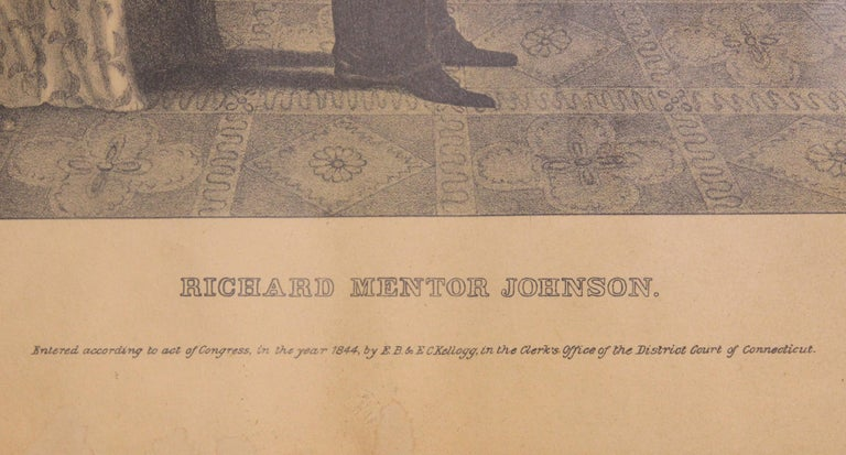 Early 19th Century Richard Mentor Johnson Lithograph by E.B. and E.C. Kellogg For Sale 2
