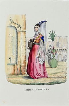 Ebrea Maritata (Married Jewish) - Original Lithograph - 1849