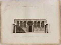 Edfou (Apolllinopolis Magna.)  / Elevation du Portique du Grand Temple