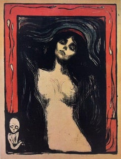 Edvard Munch's Madonna - Lithograph on Paper After E. Munch - Early 1900
