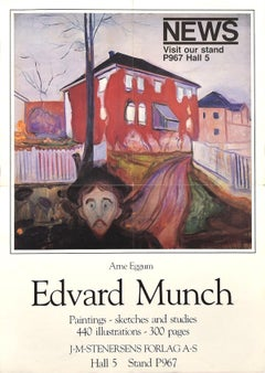 Edward Munch Vintage Poster Exhibition - 1983