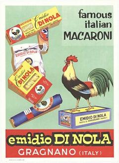 Emidio di Nola Italian Macaroni original Italian vintage food poster