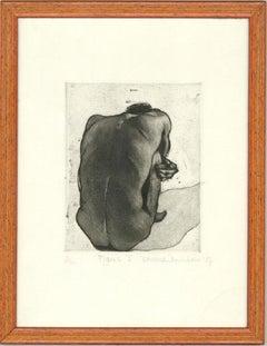 Emma Dunbar - Signed & Framed 1984 Etching, Figure I