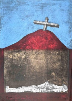 End of a Hero - Original Lithograph by Rufino Tamayo - 1974