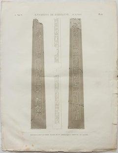 Environs de Babylone. Le Kaire.  / Details des Quatre Faces d'un Obelisque Trouv