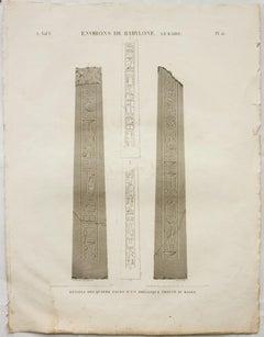 Environs de Babylone. Le Kaire. / Details des Quatre Faces d'un Obelisque Trouve