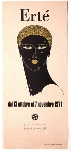 Ertè - Vintage Exhibition Poster - Screen Print and Offset Print - 1971