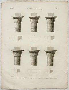Esne (Latopolis). / Plans et Elevations de Six Chapiteaux du Portique