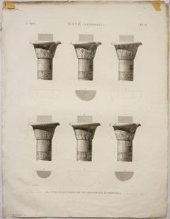 Esne (Latopolis). / Plans et Elevations de Six Chappiteaux Portique