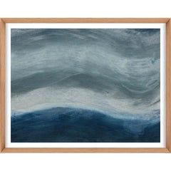 Ethereal Landscapes No. 3, Small Blue Series, framed