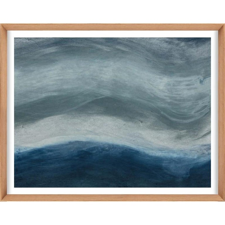 Unknown Abstract Print - Ethereal Landscapes No. 3, Small Blue Series, unframed