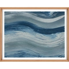 Ethereal Landscapes No. 4, Small Blue Series, framed