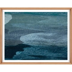 Ethereal Landscapes No. 5, Small Blue Series, framed