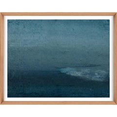 Ethereal Landscapes No. 6, Small Blue Series, framed