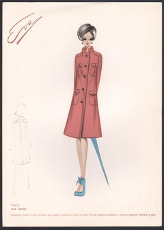 'Ethon' Italian 1960s Women's Fashion Design Illustration