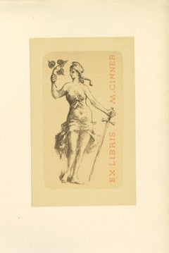 Ex Libris Cinner - Original Lithograph - Mid-20th Century