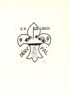 Ex Libris Déry Pal - Original Woodcut - 1937