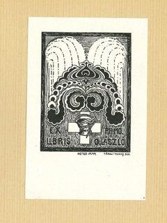Ex Libris Laszlo - Original Woodcut on Paper - 1920s