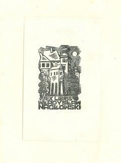 Ex Libris Naclowski - Original Woodcut Print - Early 20th Century