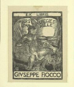 Ex Libris - Original Woodcut - 1930s