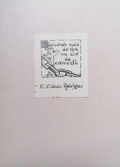 Ex Libris Rodrigues - Original Woodcut - Early 20th Century