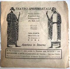 Experimental Theater Advertising - Original Offset Print - 1920