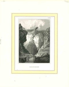 Fahlun-Minen - Original Lithograph - Mid-19th Century