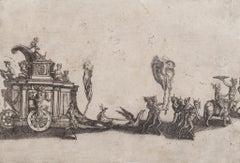Faun Parade - Original Etching - 17th Century