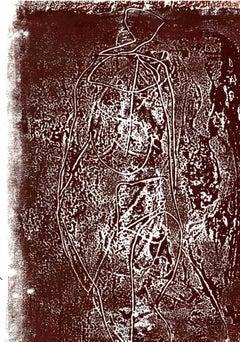 Figure in the brown - Original Lithograph - 1970s