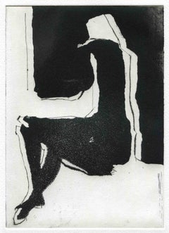 Figure - Original Etching and Drypoint - Mid-20th Century