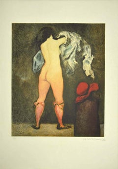 Figure - Original Lithograph - 1980s