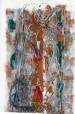 Figure - Original Lithograph - Mid-20th Century