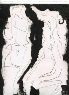 Figures - Original Etching and Drypoint - Mid-20th Century