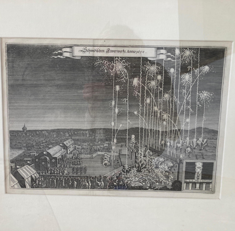"FIREWORK. - Nuremberg. ""Swedish Fireworks. Anno 1650, Engraving"