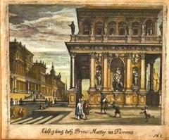 Florence - Original Etching - 18th Century