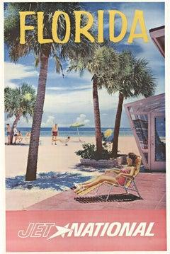 Florida Jet National original vintage travel poster