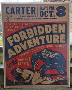FORBIDDEN ADVENTURE - VERY RARE POSTER FROM 1934 - PRE HAYS CODE