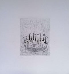 Forks  - Original Etching on Paper signed Kokotovic - 1973