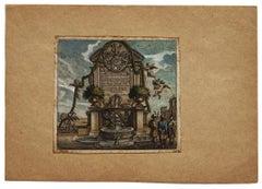Fountain - Original Etching - 16th Century