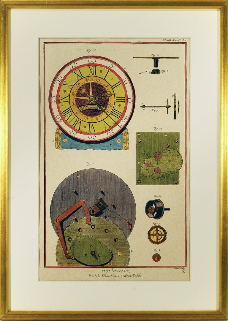 French Clock Engravings S/3 - Print by Unknown