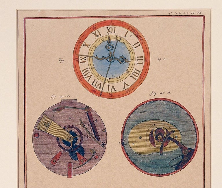 French Clock Engravings S/3 For Sale 3
