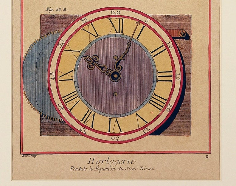 French Clock Engravings S/3 For Sale 4
