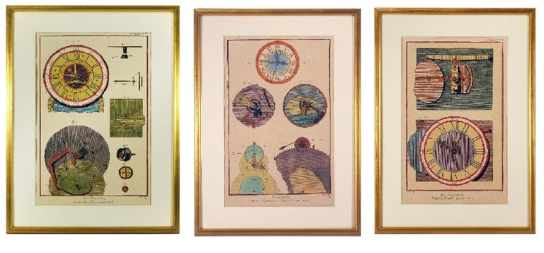 Unknown Interior Print - French Clock Engravings S/3