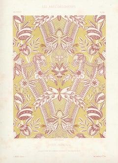 French Fabric Design - Etoffe Francais, antique French chromolithograph print