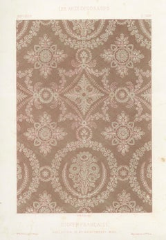 French Fabric Design - Etoffe Francaise, antique French chromolithograph print