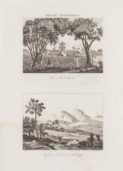 French Landscape - Original Lithograph - 19th Century