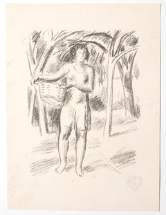 Fruit Picker - Original Lithograph - mid-20th Century