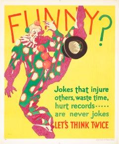"""""""Funny? (Mather Work Incentive)"""" Original Vintage Work Incentive Poster"""