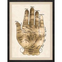 Gallicus hands, No. 1, gold leaf, unframed