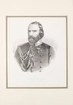 Garibaldi - Original Lithograph on Paper - 1880 ca.